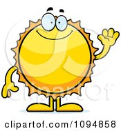 Clipart Waving Sun Royalty Free Vector Illustration by Cory Thoman