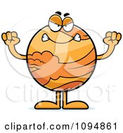 Clipart Mad Planet Venus Royalty Free Vector Illustration