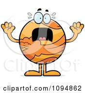 Clipart Stressed Planet Venus Royalty Free Vector Illustration