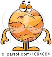 Clipart Sick Planet Venus Royalty Free Vector Illustration