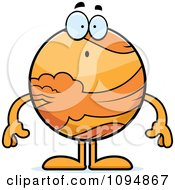 Clipart Surprised Planet Venus Royalty Free Vector Illustration