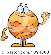 Clipart Waving Planet Venus Royalty Free Vector Illustration