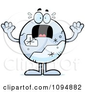 Clipart Scared Pluto Royalty Free Vector Illustration
