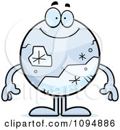 Clipart Smiling Pluto Royalty Free Vector Illustration