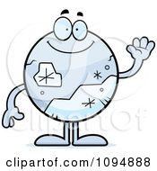 Clipart Pluto Waving Royalty Free Vector Illustration