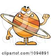Clipart Mad Planet Saturn Royalty Free Vector Illustration