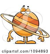 Clipart Sad Planet Saturn Royalty Free Vector Illustration