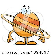 Clipart Surprised Planet Saturn Royalty Free Vector Illustration