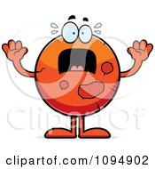 Clipart Planet Mars Panicking Royalty Free Vector Illustration by Cory Thoman