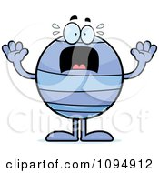 Clipart Scared Neptune Royalty Free Vector Illustration