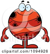 Clipart Smiling Planet Mercury Royalty Free Vector Illustration