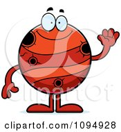 Clipart Waving Planet Mercury Royalty Free Vector Illustration
