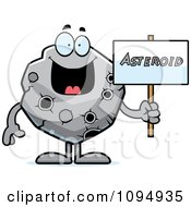 Clipart Asteroid Holding A Sign Royalty Free Vector Illustration by Cory Thoman