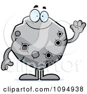 Clipart Waving Asteroid Royalty Free Vector Illustration