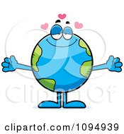 Clipart Earth Globe With Open Arms Royalty Free Vector Illustration by Cory Thoman