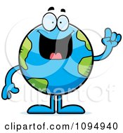Clipart Earth Globe With An Idea Royalty Free Vector Illustration