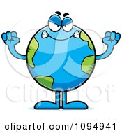 Clipart Mad Earth Globe Royalty Free Vector Illustration