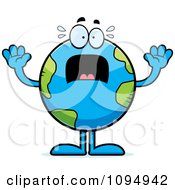 Clipart Stressed Earth Globe Royalty Free Vector Illustration