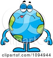 Clipart Sick Earth Globe Royalty Free Vector Illustration