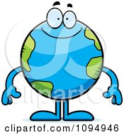 Clipart Smiling Earth Globe Royalty Free Vector Illustration