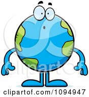 Clipart Surprised Earth Globe Royalty Free Vector Illustration