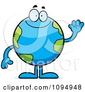 Clipart Waving Earth Globe Royalty Free Vector Illustration