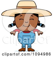 Clipart Smiling Black Farmer Girl Royalty Free Vector Illustration by Cory Thoman