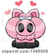 Clipart Piglet In Love Royalty Free Vector Illustration