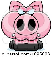 Clipart Angry Piglet Royalty Free Vector Illustration
