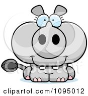 Clipart Cute Rhino Royalty Free Vector Illustration