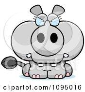 Clipart Mad Rhino Royalty Free Vector Illustration
