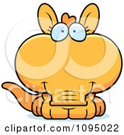 Clipart Cute Orange Aardvark Royalty Free Vector Illustration