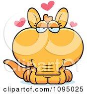 Clipart Orange Aardvark In Love Royalty Free Vector Illustration by Cory Thoman