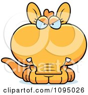 Clipart Angry Orange Aardvark Royalty Free Vector Illustration by Cory Thoman