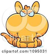 Clipart Mean Orange Aardvark Royalty Free Vector Illustration