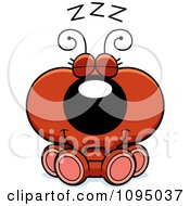 Clipart Red Ant Sleeping Royalty Free Vector Illustration