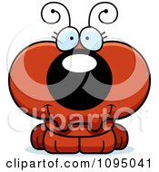Clipart Cute Red Ant Royalty Free Vector Illustration by Cory Thoman