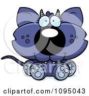 Clipart Sitting Chupacabra Royalty Free Vector Illustration by Cory Thoman