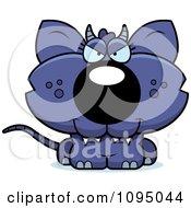 Clipart Sly Chupacabra Royalty Free Vector Illustration