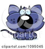 Clipart Cute Chupacabra Royalty Free Vector Illustration