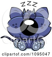 Clipart Sleeping Chupacabra Royalty Free Vector Illustration by Cory Thoman