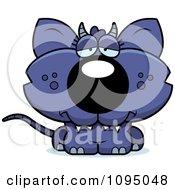 Clipart Depressed Chupacabra Royalty Free Vector Illustration