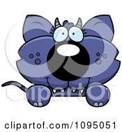 Clipart Chupacabra Looking Over A Surface Royalty Free Vector Illustration by Cory Thoman