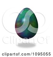 Clipart 3d Floating Colorful Easter Egg And Shadow Royalty Free CGI Illustration