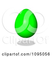 Clipart 3d Floating Green Easter Egg And Shadow Royalty Free CGI Illustration