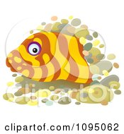 Clipart Moray Eel Peeking From A Hole Royalty Free Illustration by Alex Bannykh