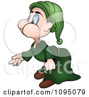 Clipart Dwarf Bending Over Royalty Free Vector Illustration by dero