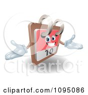 Clipart 3d Friendly Desk Calendar Holding His Arms Out Royalty Free Vector Illustration