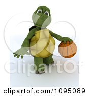 Clipart 3d Tortoise Playing Basketball Royalty Free CGI Illustration by KJ Pargeter