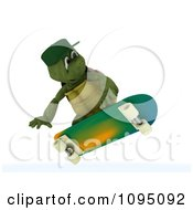 Clipart 3d Tortoise Skateboarding Royalty Free CGI Illustration by KJ Pargeter
